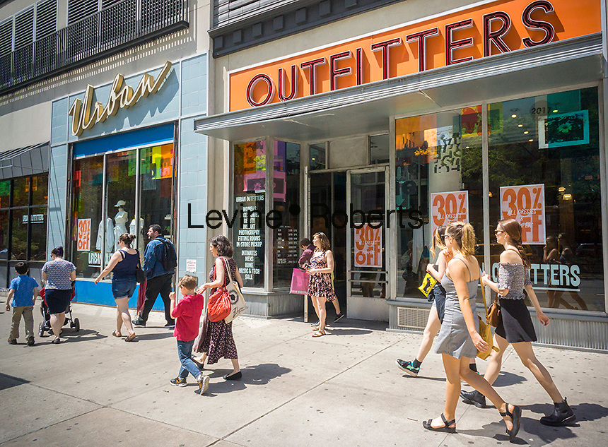 "An Urban Outfitters retail store in the Upper West Side neighborhood of New York on Saturday, April 29, 2017. Activist investor CtW Investment Group is recommending that shareholders vote against the re-election of two directors on the board in an effort to break up what they call ""extreme insularity"" and to increase board diversification. The retailer also owns the Free People and Anthropologie brands.  (© Richard B. Levine)"