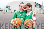 Attending the Team Kerry Basketball Camp at Mounthawk were, l-r: Ella Higgins and Mary-Anne Fleming.