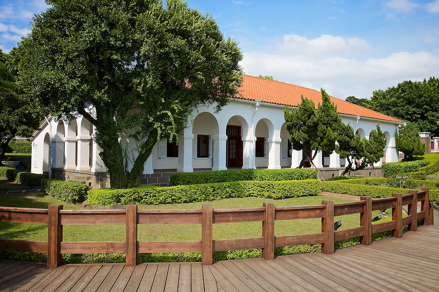 Now Known As The 'Little White House', This Building Was Once The Residence Of The Commissioner Of The Imperial Customs. Tamsui, Taiwan.