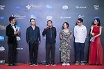 Su Biao, Ran Jianan, Wang Hailin, Dong Runnian, and Zhou Zhiyong walk the Red Carpet event at the World Celebrity Pro-Am 2016 Mission Hills China Golf Tournament on 20 October 2016, in Haikou, China. Photo by Marcio Machado / Power Sport Images