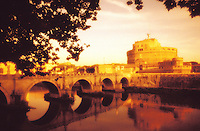 Italy, Rome, Castel San Angelo and the Tiber Rive