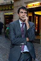 Roma, 11 Ottobre 2107<br /> Nicola Fratoianni.<br /> Legge elettorale, Sinistra Italiana, MDP, e Possibile in Piazza contro la fiducia.