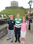 Oisín, Fiachra and Niamh Lambe pictured at Millmount on Walled Towns Day. Photo:Colin Bell/pressphotos.ie