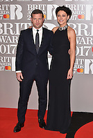 Dermot O'Leary, Emma Willis<br /> The Brit Awards at the o2 Arena, Greenwich, London, England on February 22, 2017.<br /> CAP/PL<br /> &copy;Phil Loftus/Capital Pictures /MediaPunch ***NORTH AND SOUTH AMERICAS ONLY***