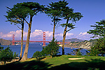 Golden Glate Bridge from Lincoln Park Golf Course, near Land's End, San Francisco, California