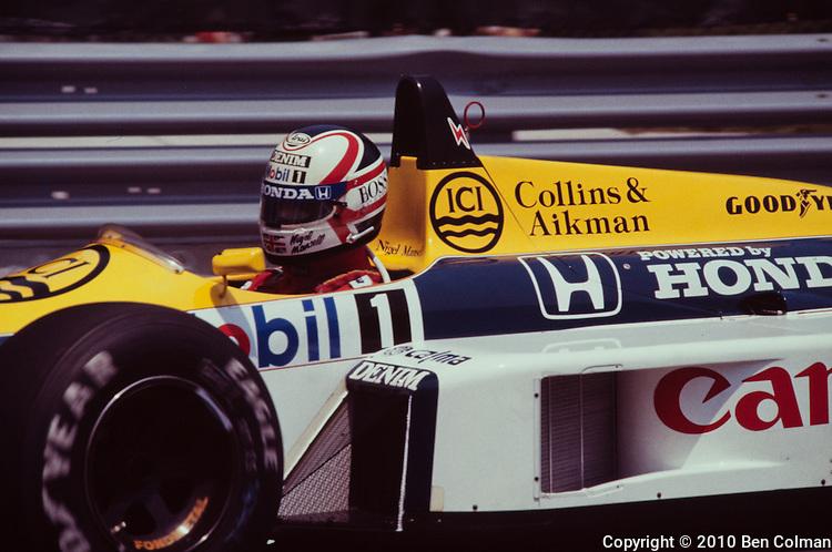 Nigel Mansell, Williams FW11, Detroit 1986