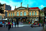 Costa Rica, San Jose, The National Theater, Built In 1897, Finest Historical Building In San Jose, Based On The Architecutre Of The Paris Opera House, The Plaza of Culture, Landmark