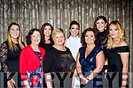 L-R Tanya Joy, Kathleen Leen, Sharon Lucid, Olivia Pryal, Orla Young, Geraldine Greensmith, Amy Phelan and Reidin Horan enjoying the Bon Secure Hospital, Tralee, Foundation day celebration, last Friday night in the Ballygarry House hotel, Tralee.