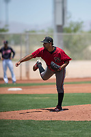 Arizona Diamondbacks relief pitcher Omar Herman (11) follows through on his delivery during an Extended Spring Training game against the Cleveland Indians at the Cleveland Indians Training Complex on May 27, 2018 in Goodyear, Arizona. (Zachary Lucy/Four Seam Images)