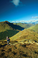 Beinn an Lochain and Loch Restil from Ben Donich, the Arrochar Alps, Loch Lomond and the Trossachs National Park, Argyll & Bute