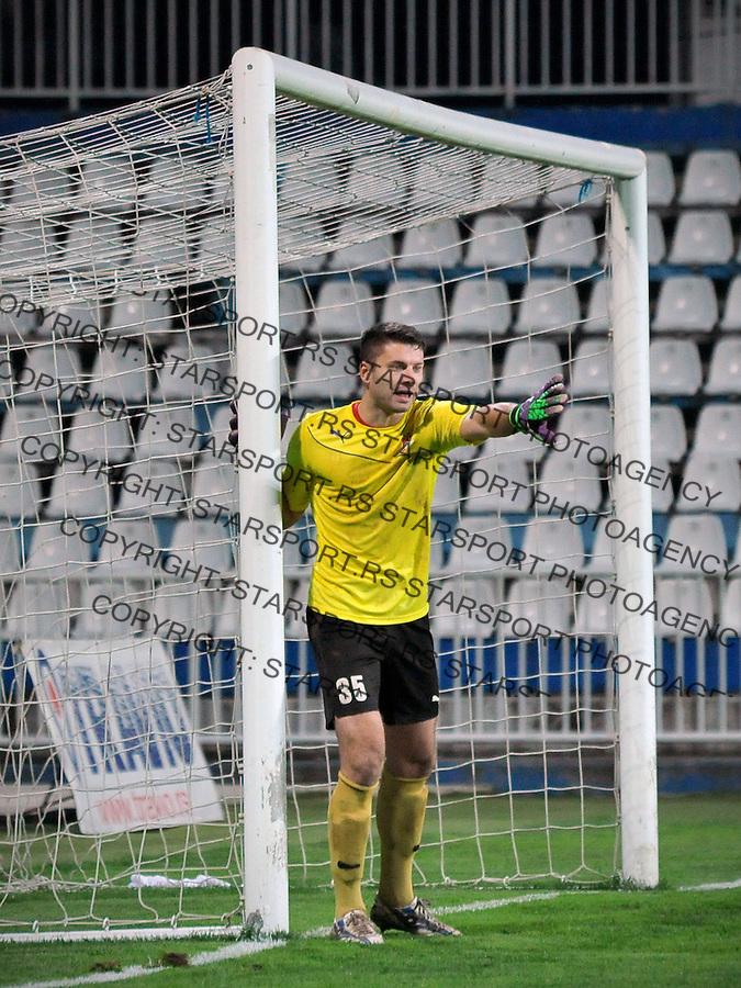 Fudbal Jelen Super League season 2016-2017<br /> Novi Pazar v Napredak (Krusevac)<br /> Golman Nikola Petrovic<br /> Novi Pazar, 22. 10. 2016<br /> foto: Emir Sadovic/Starsportphoto &copy;