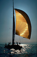 Sailing on the sailboat Australia II.
