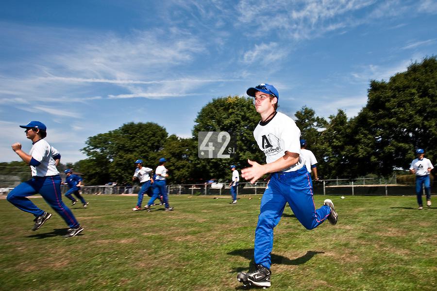 Baseball - 2009 European Championship Juniors (under 18 years old) - Bonn (Germany) - 06/08/2009 - Day 4 - Team France, Yohann Bret (France)