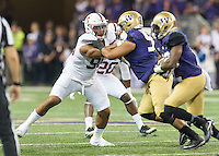 Seattle, Wa - September 30, 2016: The Stanford Cardinal vs the Washington Huskies at Husky Stadium. Final score Stanford 6, Washington Huskies 44.