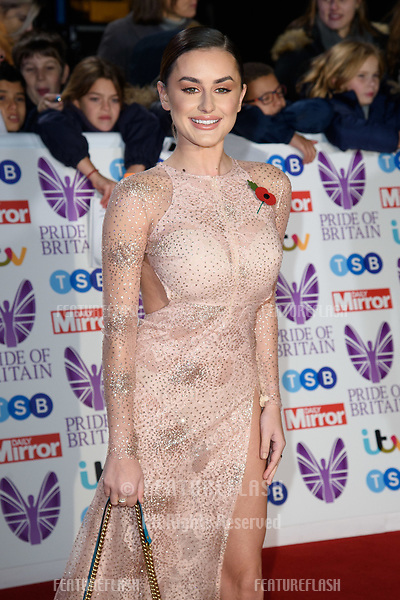 LONDON, UK. October 29, 2018: Amber Davies at the Pride of Britain Awards 2018 at the Grosvenor House Hotel, London.<br /> Picture: Steve Vas/Featureflash