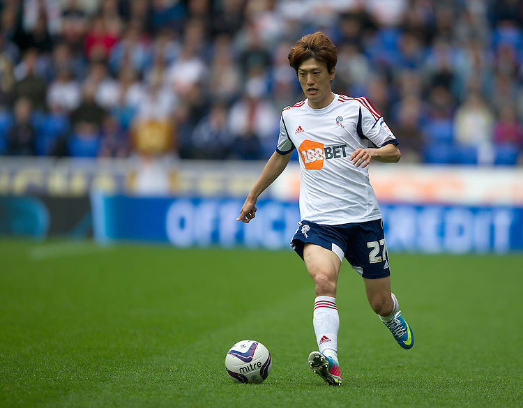 Bolton Wanderers' Lee Chung-Yong .. - (Photo by Stephen White/CameraSport) - ..Football - npower Football League Championship - Bolton Wanderers v Blackpool - Saturday 4th May 2013 - Reebok stadium - Bolton..© CameraSport - 43 Linden Ave. Countesthorpe. Leicester. England. LE8 5PG - Tel: +44 (0) 116 277 4147 - admin@camerasport.com - www.camerasport.com