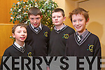 Andrew Moynihan, Donal Geaney, John Walsh and Darragh Burke from Gaelscoil Naomh Aogain <br /> Castleisland at the Tralee Credit Union Primary Schools Quiz, held at Ballyroe Heights Hotel on Sunday