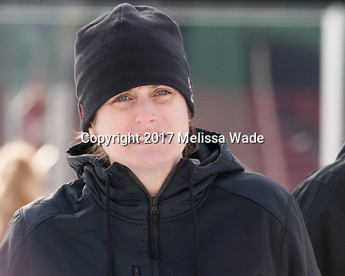 Alison Quandt (BC - Volunteer Assistant Coach-Goaltenders) - The Boston College Eagles practiced at Fenway on Monday, January 9, 2017, in Boston, Massachusetts.Alison Quandt (BC - Volunteer Assistant Coach-Goaltenders) - The Boston College Eagles practiced at Fenway on Monday, January 9, 2017, in Boston, Massachusetts.