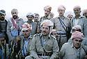 Iran 1985.Massoud Barzani et ses peshmergas.Iran 1985.Massud Barzani and his peshmergas