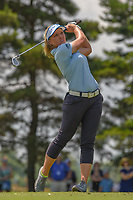 Brooke M. Henderson (CAN) watches her tee shot on 3 during round 3 of the 2018 KPMG Women's PGA Championship, Kemper Lakes Golf Club, at Kildeer, Illinois, USA. 6/30/2018.<br /> Picture: Golffile | Ken Murray<br /> <br /> All photo usage must carry mandatory copyright credit (&copy; Golffile | Ken Murray)