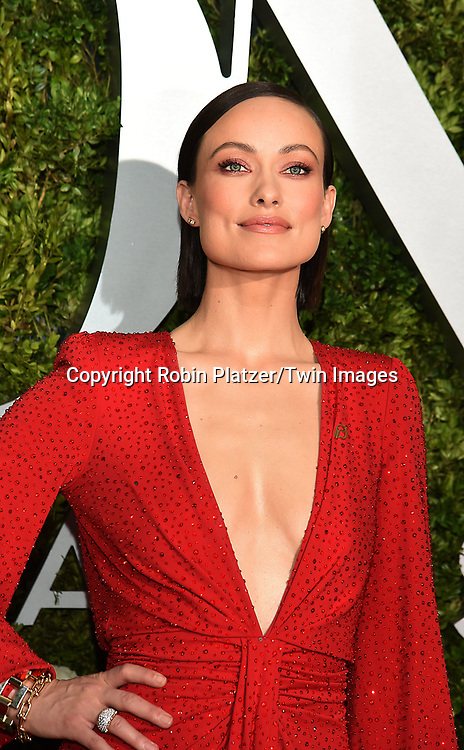 Olivia Wilde attends the 71st Annual  Tony Awards on June 11, 2017 at Radio City Music Hall in New York, New York, USA.<br /> <br /> photo by Robin Platzer/Twin Images<br />  <br /> phone number 212-935-0770