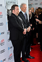 "LOS ANGELES, USA. November 21, 2019: Paul Walter Hauser & Clint Eastwood at the world premiere for ""Richard Jewell"" as part of the AFI Fest 2019 at the TCL Chinese Theatre.<br /> Picture: Paul Smith/Featureflash"