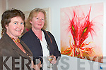 ..Rosemarie Kenmare and Eleanor Purcell, Limerick, admiring one of the paintings at the art Exhibition in The Blue Gallery Listowel on Friday night...   Copyright Kerry's Eye 2008