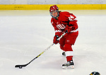 25 October 2008: Cornell University forward Liz Zorn, a Junior from Churchville, NY, in action against the University of Vermont Catamounts at Gutterson Fieldhouse, in Burlington, Vermont. The Big Red defeated the Catamounts 5-1 to sweep their 2-game series in Vermont...Mandatory Photo Credit: Ed Wolfstein Photo