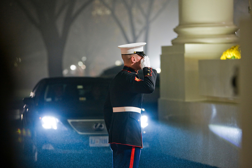 U.S. President George W. Bush greets world leaders as they arrive at the North Portico of the White House in Washington, Friday, Nov. 14, 2008. President Bush invited leaders of the G-20 community to Washington for a weekend summit to discuss the world economy and the current condition of the financial markets..Photo by Brooks Kraft/Corbis........
