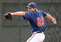 July 15, 2009: RHP David Hale (28) of the Danville Braves, rookie Appalachian League affiliate of the Atlanta Braves, prior to a game at Dan Daniel Memorial Park in Danville, Va. Hale was the Braves' third round 2009 draft pick. Photo by:  Tom Priddy/Four Seam Images