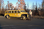 WY: Wyoming, Yellowstone National Park..Transportation, 1937 White Touring Car..Photo #: yellow877.Photo copyright Lee Foster, 510/549-2202, lee@fostertravel.com, www.fostertravel.com..