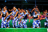 Dancers perform for the annual Raintree Festival on the island of Saipan.