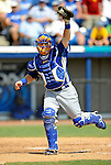 15 March 2008: Los Angeles Dodgers' catcher Gary Bennett in action during a Spring Training game against the Washington Nationals at Space Coast Stadium, in Viera, Florida...Mandatory Photo Credit: Ed Wolfstein Photo