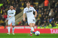George Byers of Swansea City in action during the Sky Bet Championship match between Norwich City and Swansea City at Carrow Road in Norwich, England, UK. Friday 08 March 2019