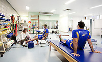 Belo Horizonte_MG, Brasil...Secao de Fisioterapia com atletas do Minas Tenis Clube em Belo Horizonte, Minas Gerais...Section of Physiotherapy with athletes at Minas Tenis Club in Belo Horizonte, Minas Gerais...Foto: BRUNO MAGALHAES / NITRO
