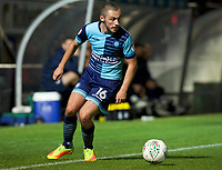Michael Harriman of Wycombe Wanderers during the Carabao Cup match between Wycombe Wanderers and Fulham at Adams Park, High Wycombe, England on 8 August 2017. Photo by Alan  Stanford / PRiME Media Images.