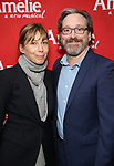 Nina Hellman and Jeremy Shamos attends the Broadway Opening Night performance of 'Amelie' at the Walter Kerr Theatre on April 3, 2017 in New York City