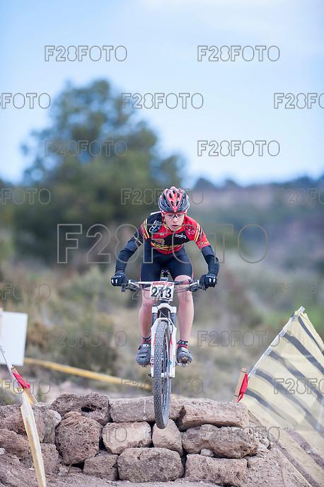 Chelva, SPAIN - MARCH 6: Aaron Cordero during Spanish Open BTT XCO on March 6, 2016 in Chelva, Spain