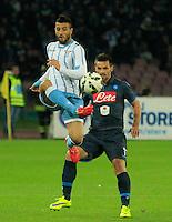 Felipe Anderson  durante l'incontro di ritorno della semifinale  Tim Cup tra     Napoli - Lazio allo  Stadio San Paolo  di Napoli ,08 Aprile  2015