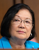 United States Senator Mazie Hirono (Democrat of Hawaii) listens to the controversy prior to Judge Brett Kavanaugh giving testimony before the United States Senate Judiciary Committee on his nomination as Associate Justice of the US Supreme Court to replace the retiring Justice Anthony Kennedy on Capitol Hill in Washington, DC on Tuesday, September 4, 2018.<br /> Credit: Ron Sachs / CNP<br /> (RESTRICTION: NO New York or New Jersey Newspapers or newspapers within a 75 mile radius of New York City)