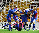 Andy Barrowman scores Caley's first goal