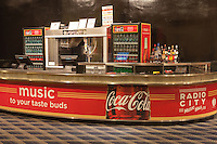 A concession stand in historic Radio City Music Hall in New York City