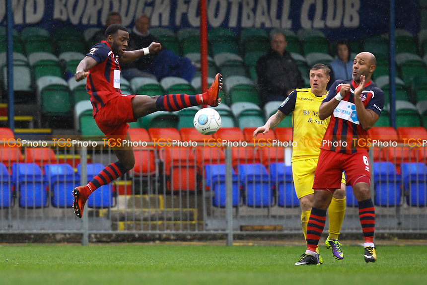 Tyrell Miller-Rodney of Hampton & Richmond Borough in action during Hampton & Richmond Borough vs AFC Hornchurch, Emirates FA Cup Football at the Beveree Stadium on 6th October 2018