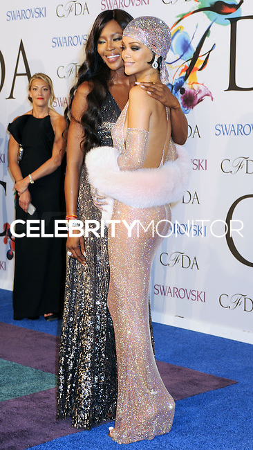 NEW YORK CITY, NY, USA - JUNE 02: Naomi Campbell and Rihanna arrive at the 2014 CFDA Fashion Awards held at Alice Tully Hall, Lincoln Center on June 2, 2014 in New York City, New York, United States. (Photo by Celebrity Monitor)