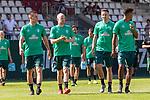 04.07.2019, Parkstadion, Zell am Ziller, AUT, TL Werder Bremen - Tag 00<br /> <br /> im Bild / picture shows 1. Training im TL Zillertal am Mittwoch abend<br /> Niklas Moisander (Werder Bremen #18)<br /> Davy Klaassen (Werder Bremen #30)<br /> Kevin Möhwald / Moehwald (Werder Bremen #06)<br /> Theodor Gebre Selassie (Werder Bremen #23)<br /> <br /> Foto © nordphoto / Kokenge