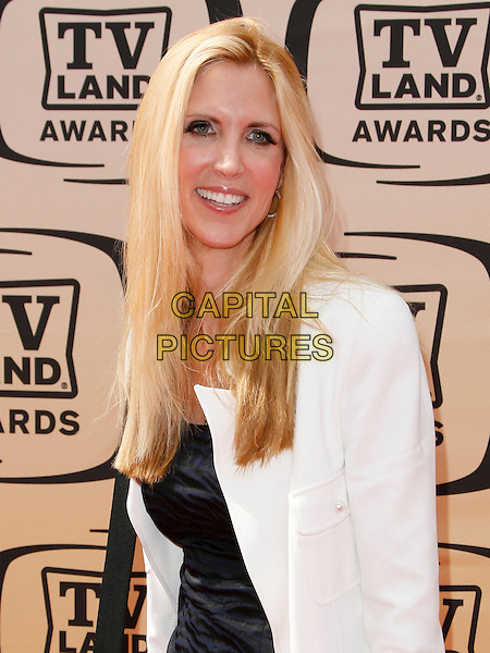 ANN COULTER.The 8th Annual TV Land Awards held at  Sony Studios in Culver City, California, Culver City, USA..April 17, 2010   .half length black dress white jacket.CAP/ROT/BAR.©Barraza/Lee Roth/Capital Pictures