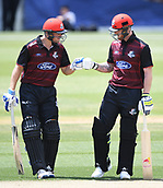 6th December 2017, Eden Park, Auckland, New Zealand; Ford Trophy One Day Cricket, Auckland Aces versus Canterbury Wizards;  Michael Pollard and Ben Stokes