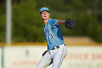 Burlington Royals starting pitcher Noah Murdock (43) in action against the Johnson City Cardinals at Burlington Athletic Stadium on September 3, 2019 in Burlington, North Carolina. The Cardinals defeated the Royals 7-2 to even Appalachian League Championship series at one game a piece. (Brian Westerholt/Four Seam Images)