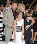Chuck Norris and family at Lionsgate World Premiere of The Expendables 2 held at The Grauman's Chinese Theatre in Hollywood, California on August 15,2012                                                                               © 2012 Hollywood Press Agency