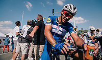 Philippe Gilbert (BEL/Quick Step floors) post-race<br /> <br /> Stage 2: Mouilleron-Saint-Germain &gt; La Roche-sur-Yon (183km)<br /> <br /> Le Grand D&eacute;part 2018<br /> 105th Tour de France 2018<br /> &copy;kramon